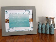Framed Wedding Invitation  Unique Wedding Gift  by ForTheQuillOfIt