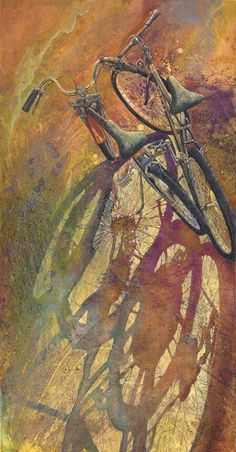 Craig Cossey paints ordinary used bicycles with great detail and intensity.