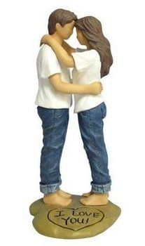 Blue Jean Wedding Cake Toppers