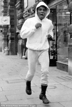Muhammad Ali pictured training for his three fights in London ...
