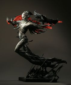 A stunning statues by Forest Rogers depicting the Queen. This sculpture seems alive with fierceness and energy. A true Battle Raven. morrigan_forest_rogers.jpg