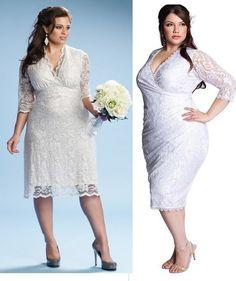 Vestidos para novias gorditas cortos