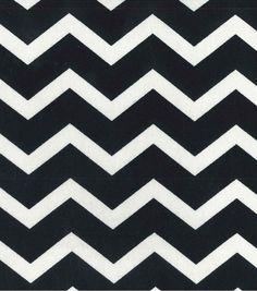 "45'' Home Essentials Print Fabric-Chevron Black & 45"" Home Decor Fabric at Joann.com $5.99"
