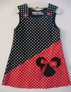 Baby Dress Similar products like Red / Black Minnie Mouse Dress on Etsy Frock Design, Little Dresses, Little Girl Dresses, Girls Dresses, Sewing For Kids, Baby Sewing, Fashion Kids, Womens Fashion, Fashion Art