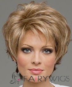 100% Human Hair Blonde Capless Straight Short Wigs 8 Inch