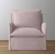 RH Baby & Child's Classic Shelter Velvet Slipcovered Swivel Glider:Adding a contemporary edge to the nursery, our chair features a slim silhouette and amply padded cushions. Its gentle gliding motion issues an invitation to sit back and enjoy parenting's quieter moments.