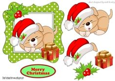 Looks like santa has been to sleepy puppy with present on Craftsuprint - View Now!