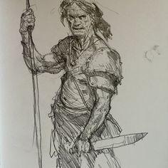 Art of Karl Kopinski Story Drawing, Guy Drawing, Figure Drawing, Cool Sketches, Drawing Sketches, Sketching, Inktober, Monster Illustration, Ink Pen Drawings