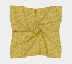 Black and Yellow Swirly Abstract Pattern , Square Scarf by Graphika | Shop | Art of Where