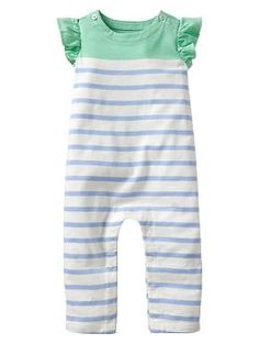 Striped flutter one-piece | Gap