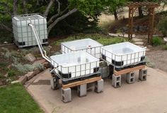 AquaBundance Tote Aquaponics System 3 Beds Made with repurposed shipping containers. Only 1595$ to grow 60 adult size fish per year plus tons of veggies