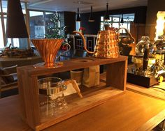 Japonica Niseko custom triple pour over coffee stand.
