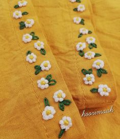 😊 Do you want to learn these very easy flowers? Wait for the video. میخواین این گل های خیلی آسون ُ یاد Embroidery On Kurtis, Hand Embroidery Dress, Kurti Embroidery Design, Hand Embroidery Videos, Embroidery On Clothes, Embroidery Flowers Pattern, Hand Embroidery Stitches, Embroidery Suits Punjabi, Shorts E Blusas