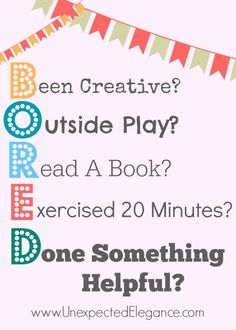 BORED Free Printable.  This is PERFECT for Kids who always say they are BORED!!