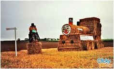 Farming Art with Hay Bales