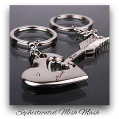 Heart and Arrow Keychain Love Fob Key by SophisticatedMishMas