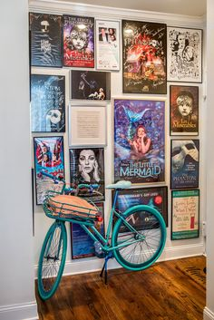 "Wohnung Einrichten ideen - Sierra's ego wall The actress, a star of Broadway's ""School of Rock,"" on h. My Room, Dorm Room, Deco Cinema, Cinema Room, Poster Wall, Movie Poster Room, Poster Collage, Poster Frames, Poster Layout"