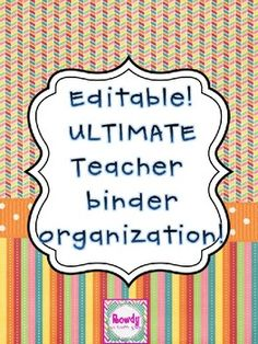 Editable Binder pages!