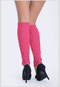 Raised Aztec Pattern Leg Warmer (Select Color)