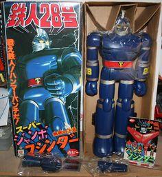 Bandai Popy Jumbo Machinder Testujin 28 Japanese Robot from 70s  ebay