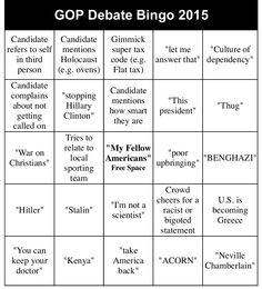 #gop #debate #Republicans #bingo