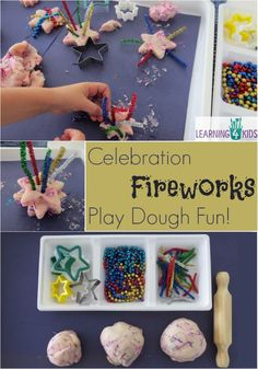 Celebration activities or New year's activities for kids Celebration Fireworks Play dough Fun Activity. Celebration activities or New year's activities for kids Diwali Activities, Eyfs Activities, Nursery Activities, Playdough Activities, New Years Activities, Autumn Activities, Creative Activities, Infant Activities, Activities For Kids