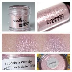 Essence Cotton Candy pigment is a dupe for MAC Kitschmas pigment