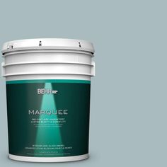 BEHR MARQUEE 5 gal. #MQ6-4 Gray Wool One-Coat Hide Semi-Gloss Enamel Interior Paint