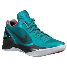 Nike Zoom Hyperdunk 2011 Low - Men's - Basketball - Shoes - Lush Teal/Challenge Red/Wolf Grey