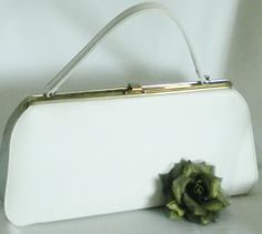 White Vinyl Kelly Bag Theodor Easter Purse by normajeanscloset