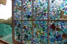 Beautiful Idea!  Sea Glass and Sea Shells <3 <3 <3
