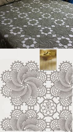 Discover thousands of images about Rectangular Crocheted Tablecloth Antique White Lace Table Runner Centerpiece Doily Cottage Chic Cottage Vintage Flower Motifs Crochet Table Runner Pattern, Crochet Motif Patterns, Crochet Lace Edging, Crochet Diagram, Crochet Chart, Filet Crochet, Crochet Doilies, Crochet Flowers, Crochet Stitches