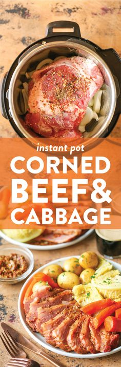 Instant Pot Corned Beef and Cabbage - Damn Delicious Corned Beef Brisket, Corned Beef Recipes, Crockpot Recipes, Cooking Recipes, Easy Recipes, Cooking Tips, Instant Pot Pressure Cooker, Pressure Cooker Recipes, Pressure Cooking
