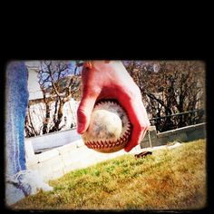 throwing the softball with old friends! It's the time for year for training and playing!