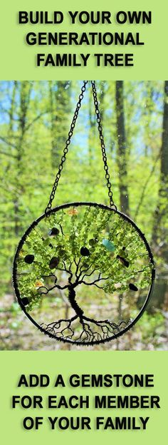 Generational Ancestry Family Suncatcher Tree of by Just4FunDesign
