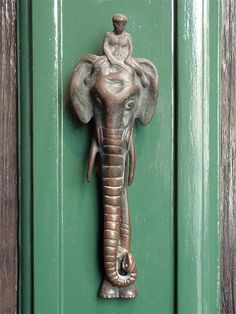 Elephant and mahout knocker