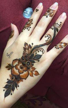Best Arabic Mehndi Designs, Kashee's Mehndi Designs, Modern Henna Designs, Floral Henna Designs, Finger Henna Designs, Beginner Henna Designs, Legs Mehndi Design, Mehndi Designs For Girls, Mehndi Designs For Fingers
