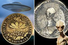 A SET of ancient Egyptian coins could be proof that an alien race visited Earth thousands of years ago, say conspiracists. One coin, found during a house renovation in Egypt, seems to depict a spac…