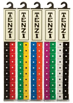 "Tenzi - $14.99 - Everyone gets ten dice. Someone says ""Go."" Then everyone rolls and rolls as fast as they can until someone gets all their dice on the same number. Sure, there are a few more rules, but you get the idea!"