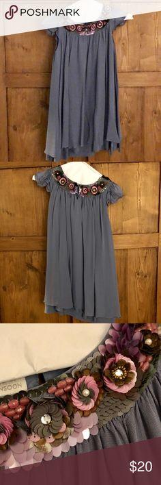 Monsoon Gurls dress Purplish grey beaded dress Monsoon Dresses Formal