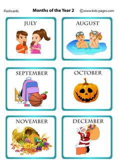 Kids Pages - Months Of The Year 2