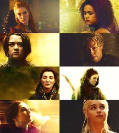"""Yes. All men must die. But we are not men."" Oooooh, I love this. Women of GoT are so epic."