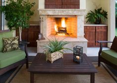 Outdoor Fireplace - For details and additional information on purchasing an #outdoorfireplace from Valley City Supply, please contact us at 330-483-3400 or visit our website at ValleyCitySupply.com #outdoorheating