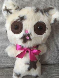 Ugly Cute Teddy Bear OOAK Plush Handmade Toys Creepy Cute Star Print Girlfriend Gift Weird Stuffed Animal Funny Ornament Adult Toys by DrFrankenBecky on Etsy https://www.etsy.com/uk/listing/480503164/ugly-cute-teddy-bear-ooak-plush-handmade