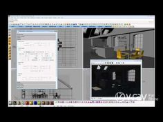 V-Ray for Rhino - Daylight Set Up (interior scene) - tutorial