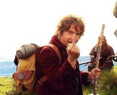 Martin Freeman, our middle finger cinnamon bun