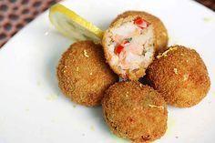 Croquetas de Camarón, receta de Linda Brockmann.