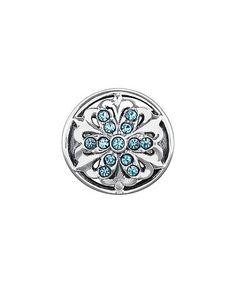 Blue & sterling Silver Geometric Bead With Swarovksi® Crystals #zulily #zulilyfinds