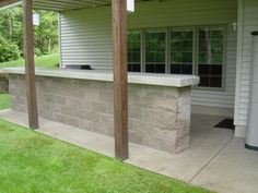 My Outdoor Concrete Bar Build - Dispense Forum Concrete Bar, Concrete Houses, Concrete Countertops, Outdoor Buildings, Outdoor Structures, Beer And Wine Refrigerators, Fire Pit Safety, Chocolate House, Fireplace Pictures