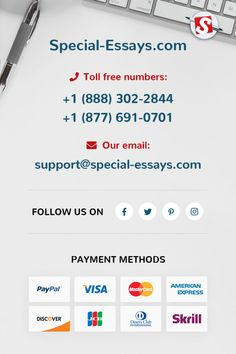 We, at Special-Essays.com, understand the frustrations associated with a non-responsive customer service department. That is why we keep ours open 24 hours a day, 365 days a year. Someone is always available to assist our customers with whatever they may need in terms of academic writing.  #special_essays #information #essay #paper #academichelp #student